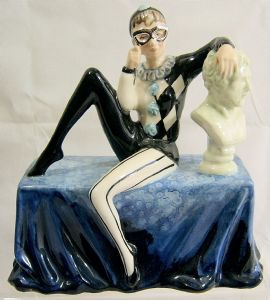 Carlton Ware Figurine - Masquerade - Bleu Royale Limited Edition - SOLD
